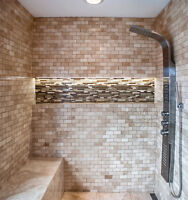 Tile and Bath Renovations - Professional Installer - Great Rates