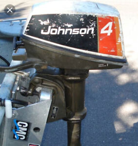 Looking for.... 1970's 4hp Johnson or Evinrude outboard motor.