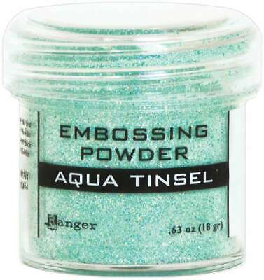Ranger Embossing Powder Aqua Tinsel 789541060413