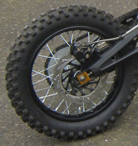Complete Rear wheel , with disc brake ,  sprocket and caliper