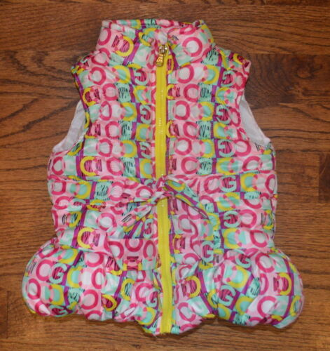COOGI Baby Girl Logo Print Puffer Vest Winter EUC Size 6-9 Months