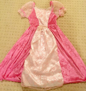 Toddler girl size 3T-5T Pink Aurora dress and tutu with wand