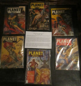 Planet Stories SF Magazine COMPLETE YEAR SETs (6 ISSUES EACH)