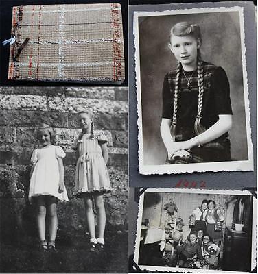 Familien Fotoalbum 1939 - 1957 meist Obersdorf HARZ 184 Fotos