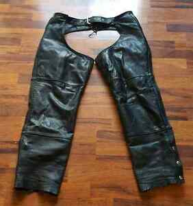 True Element Leather Chaps XL