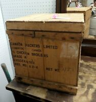 Vintage Wooden Box Crate - BLUE JAR Antique Mall