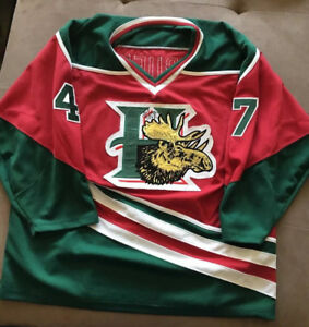 Wanted: Wanted:Halifax Mooseheads QMJHL Jersey older vintage XL