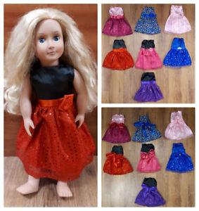 Robes pour poupée de 18 pouces 8$ CHACUNE