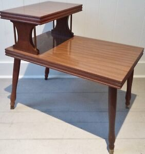 SPACE AGE Coffee Side Table WOOD Antique Vintage