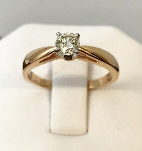 14k rose gold .37ct. diamond solitaire engagement ring^Stunning