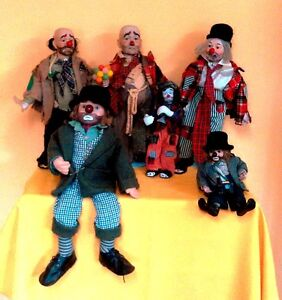 Tramp Clown Collection with stands