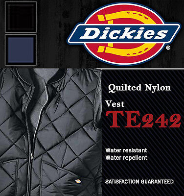 Dickies Men's Nylon Vest Jacket, TE242 Diamond Quilted Lightweight (3 colors) ()