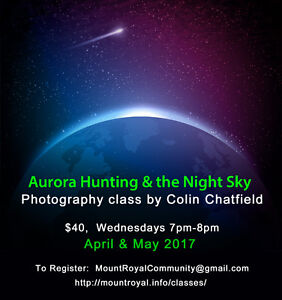 Aurora Lights & Night Photography Class by Colin Chatfield