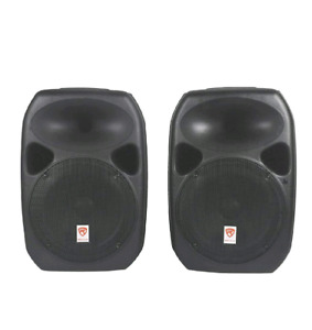 """Speaker rental 2 Rockville 12""""  powered with stands"""