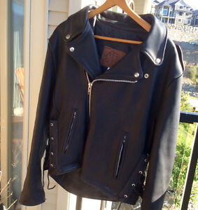 Kerr Leather Jacket, Leather Chaps, Leather Gloves