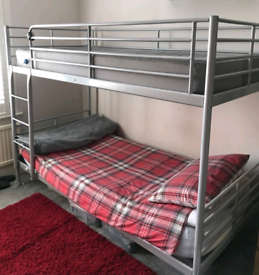 Ikea bunk bed and mattresses. Good condition . Delivery available ex