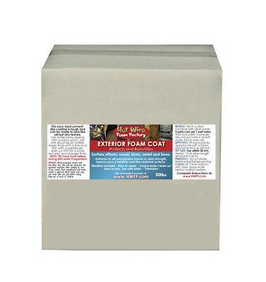 Exterior Foam Coat 50lb Box Weatherproof Outdoor Indoor Construction Home