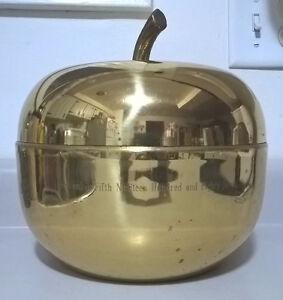 Vintage large Ice Bucket brass Apple Ice Bucket