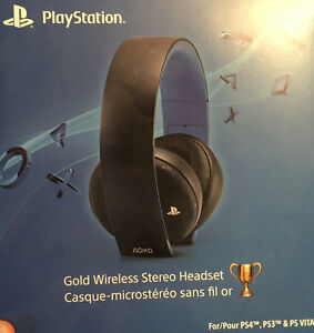 Mint Condition Playstation Gold Wireless Stereo Headset