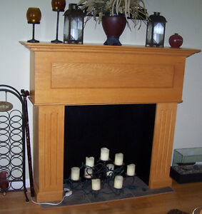 Oak Faux Fireplace Mantel