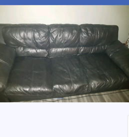 Free 3 and 2 seater leather sofas