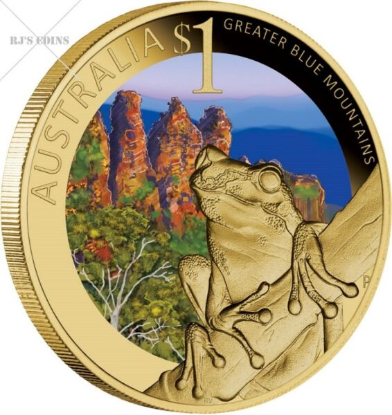 CELEBRATE AUSTRALIA-WORLD HERITAGE SITES 2010 FIVE $1 BASE METAL COIN COLLECTION FROM THE PERTH MINT