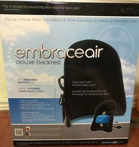 (BRAND NEW/NOT OPENED) EmbraceAir Deluxe Backrest