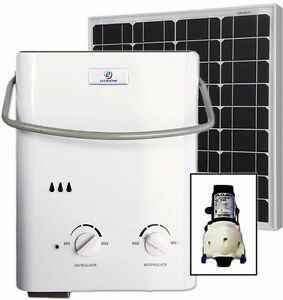 Eccotemp L5 Tankless Water Heater (w/ 12V pump & 50W Solar Kit)