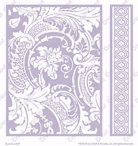 Cuttlebug 5x7 Embossing Folder&Border Set-Anna Griffin Acanthus