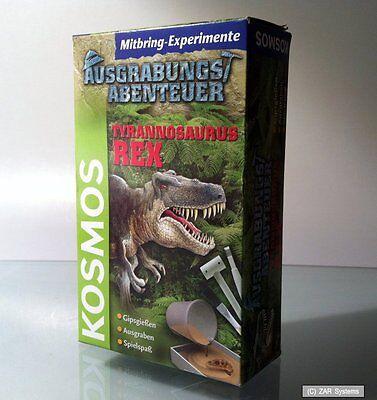 2 x Kosmos Spiel Ausgrabungsabenteuer Tyrannosaurus Rex, Experimente ab 7 Jahre