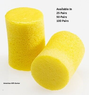 3M Earplugs Classic Uncorded Earplug Individually Wrapped Available in 25 50 -