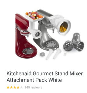 Kitchenaid Gourmet Stand Mixer Attachment Pack White