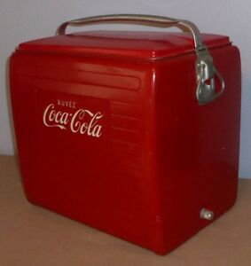 Glacière cooler Coca-Cola Coke antique vintage retro