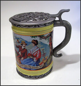 BRISTOW TOFFEE TIN / STEIN - LITHO EMBOSSED