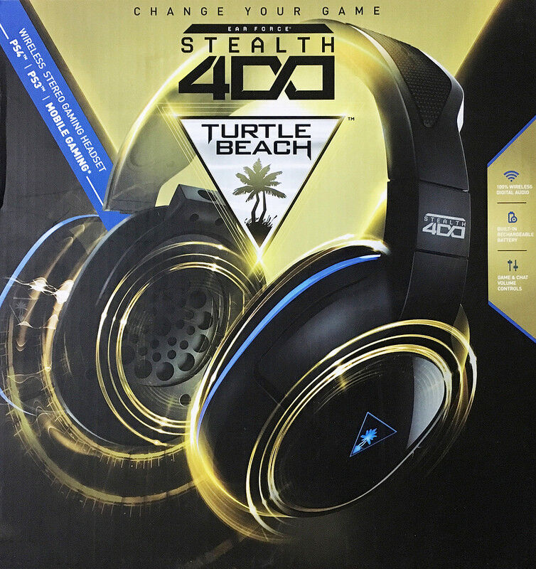 Turtle Beach Ear Force Stealth 400 Wireless Stereo Gaming Headset for PlayStation 3 and PlayStation 4 TBS-3240-01