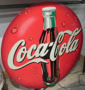 VINTAGE COKE-COLA CARDBOARD 3D ADVERTISING SIGN