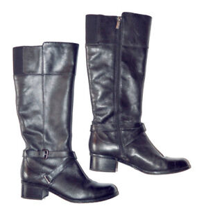 Black Ladies Leather Boots - Size 9 - $50