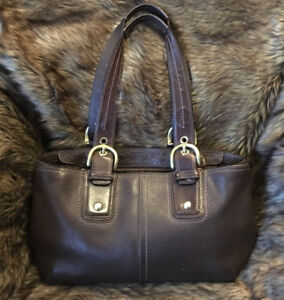 Coach Soho Collection Brown Pebbled Leather Satchel