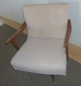 Vintage Bogdon and Gross rocking and swivel living room chair