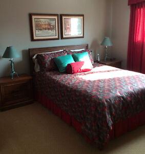 5 piece all wood bedroom suite; double or queen