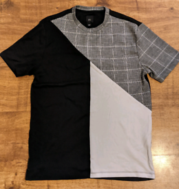 River Island T Shirt size Small black, grey and white