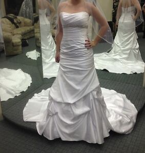 Wedding Dress Pure Satin White with Accessories