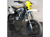 2008 58 RIEJU SMX 50 SUPERMOTO MOPED LEARNER LEGAL 16 12K CAT N LIKE DERBI SENDA