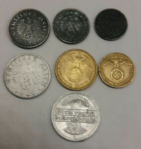 German 7 coins from 1920 - 1941