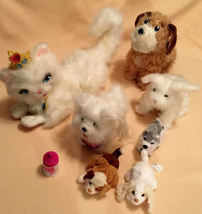 Barbie Princess Serafina cat + Furreal pet talking / interactive