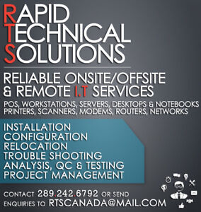 RAPID TECHNICAL DESKTOP P.O.S ONSITE OFFSITE AND REMOTE SUPPORT