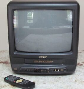 "Citizen 14"" TV With Built In VHS Player"