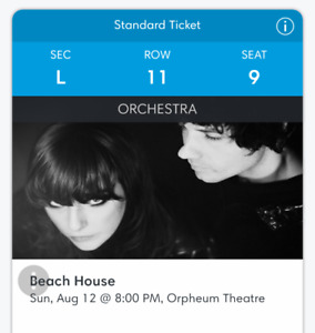 2 tickets for Beach House