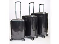 Brand new, black K2 Global 'Wessex Spinners' Suitcase. Lightweight ABS/PC hardshell