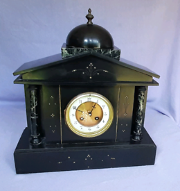 French Marble & Slate Mantle Clock